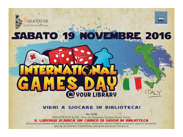 Le Pagine organizza a Parma l'International Games @ your library